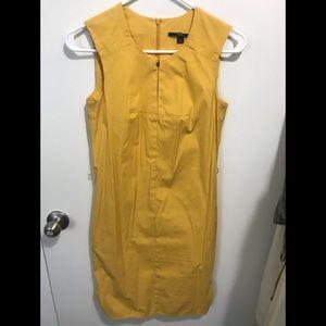 BOSS by Hugo Boss mustard sleeveless sheath dress